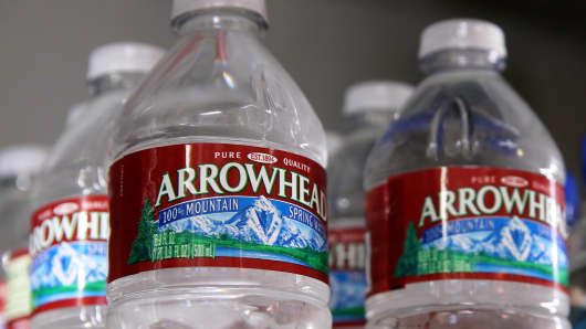 Nestle's Arrowhead bottled water