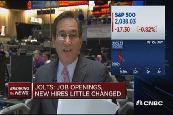 JOLTS job openings 4.994 million (March)