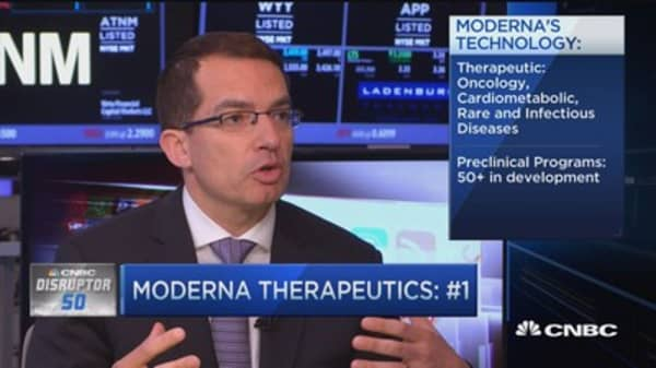 Moderna Therapeutics No. 1 on Disruptor 50: Here's why