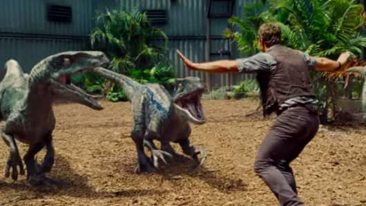A scene from Legendary Films' Jurassic World.