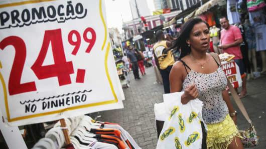 A shopping district in Rio de Janeiro