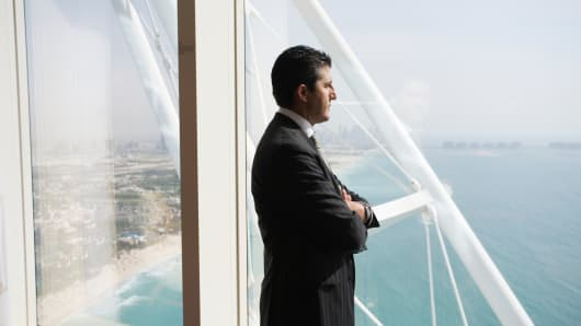 Western businessman in Dubai
