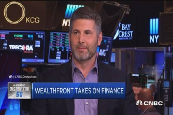 Wealthfront no. 34 on Disruptor 50