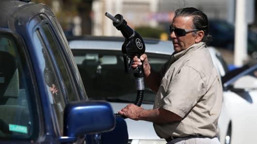 Gas prices gas pump