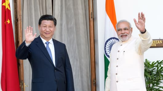 Xi Jinping and Narendra Modi