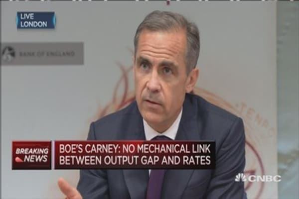 BoE's Carney: Housing activity is softer