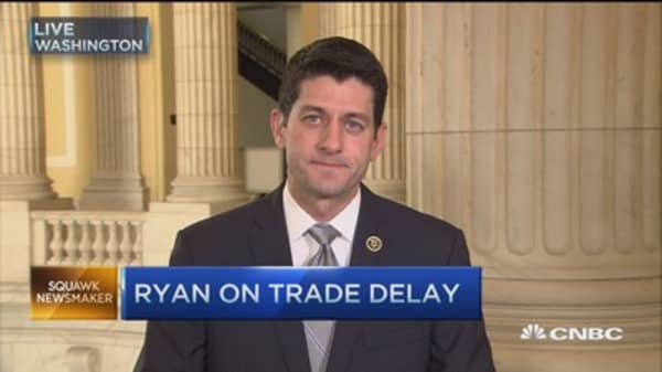 Rep. Ryan: Getting Dems through trade 'snafu'