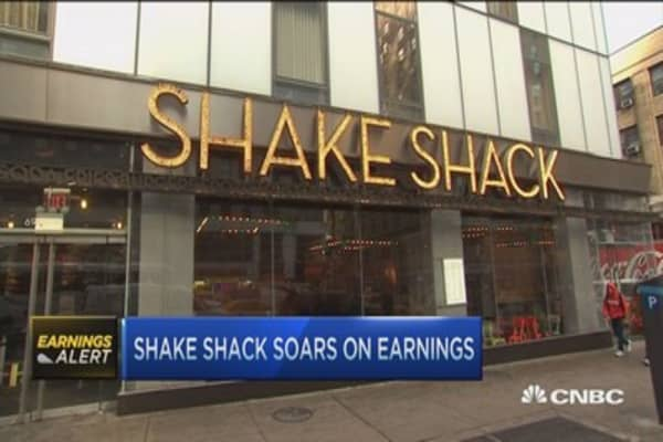 Shake Shack soars on earnings