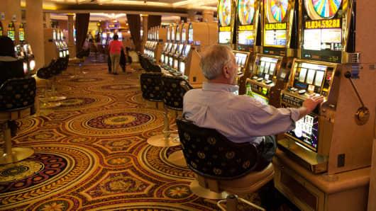 The Casino Floor At Caesars Palace, Las Vegas.