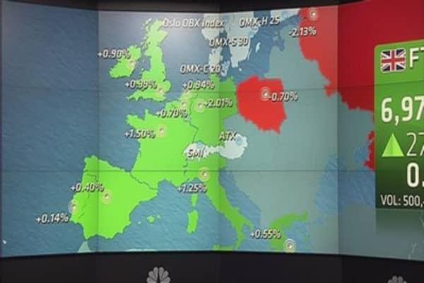Steel producers help Europe stocks end higher