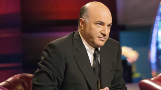 Kevin O'Leary on set of 'Shark Tank'