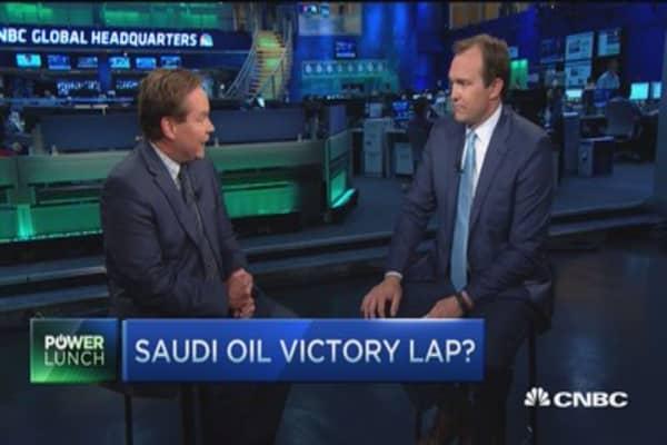 Saudi oil victory lap?