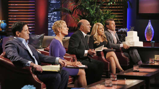 Mark Cuban, Barbara Corcoran, Lori Greiner, Robert Herjavec, Daymond John and Kevin O'Leary on 'Shark Tank'