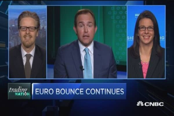Euro bounce continues