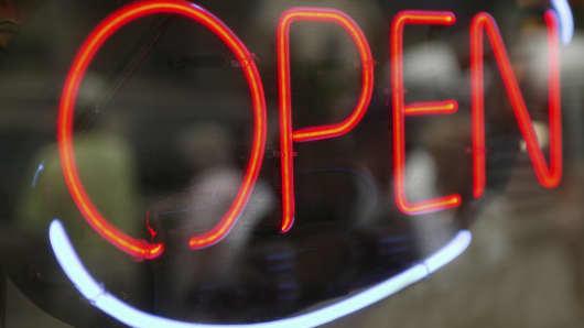 Neon open sign