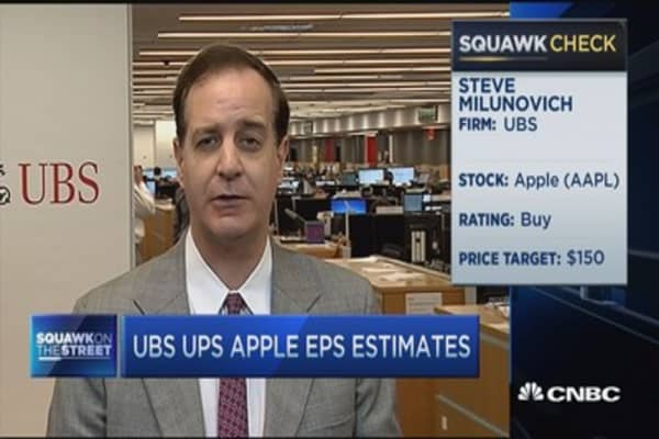 Estimates low on Apple Watch, high iPhone: UBS