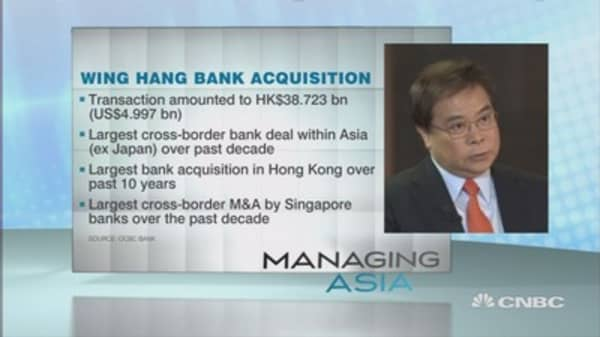 Singapore's oldest bank OCBC looks overseas