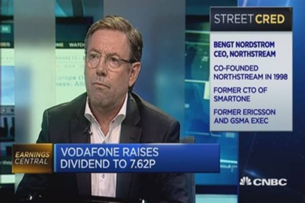 Vodafone reports sales growth