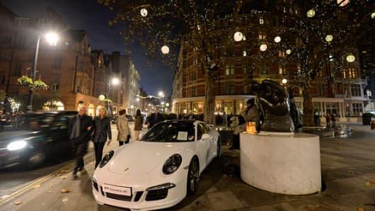 Mount Street Christmas lights