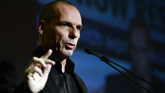 Greek finance minister Yianis Varoufakis.