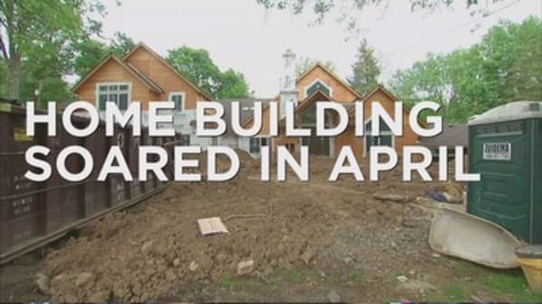 Home building soared in April