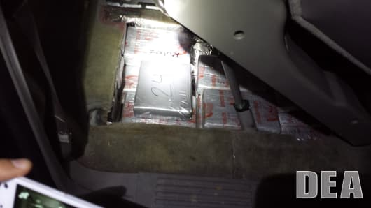 Over 70 Kilograms of Heroin, $2 Million cash and firearm recovered in the Fieldston section of the Bronx on Tuesday May 19, 2015.
