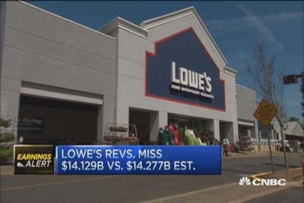 Lowe's reports Q1 earnings, revenue miss