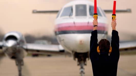 Private plane jet