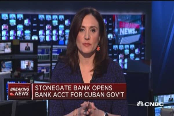 Stonegate Bank opens bank account for Cuban gov't