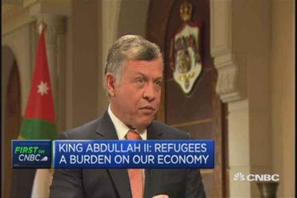 King Abdullah II of Jordan on the refugee crisis
