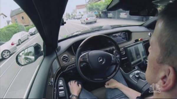 Video game hardware maker Nvidia is testing autonomous cars that use its graphics processors.