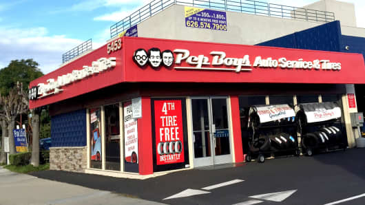 A Pep Boys Auto Service location in Lakewood, California.