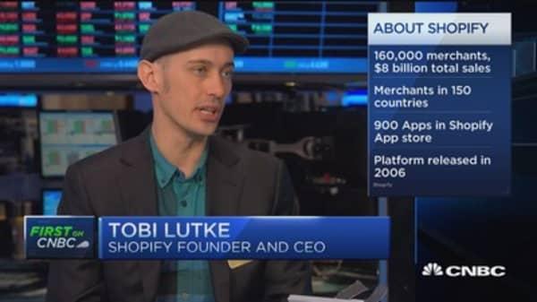 Shopify CEO: Mobile exploding on platform