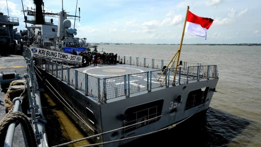 An Indonesian naval vessel.