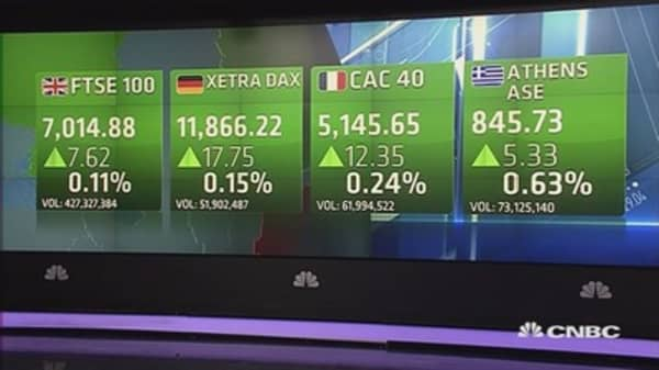 Europe ekes out gains to close higher after PMIs