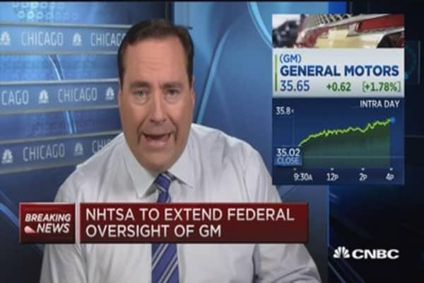 NHTSA extends federal oversight of GM