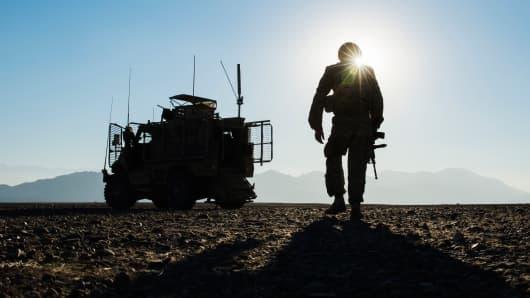 A U.S. soldier in Afghanistan