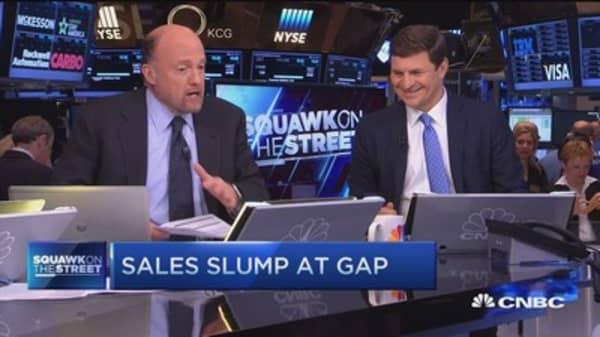 Cramer talks Gap earnings