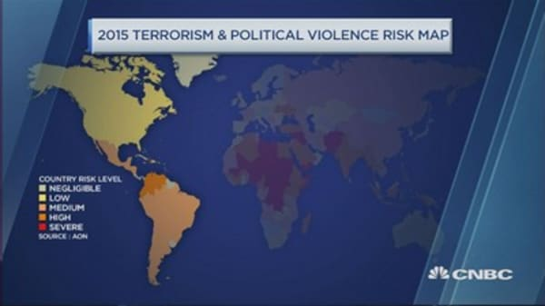 These countries are risk of unrest and violence