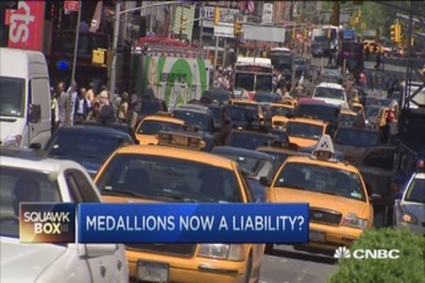 Medallion values slide, is Uber to blame?
