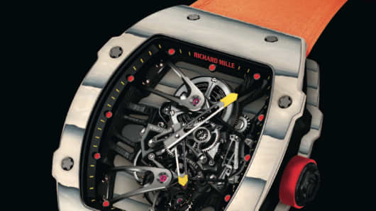 Tourbillon RM 27-02 Rafael Nadal Richard Mille watch.