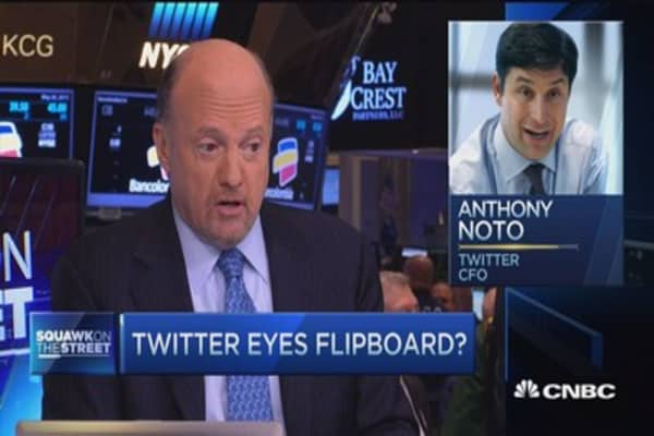 Cramer: Twitter 'constantly in motion doing nothing'