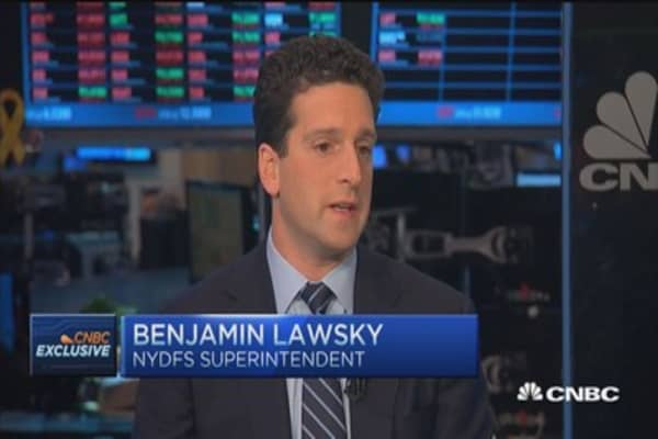 Long way from accepting Bitcoin at new firm: Lawsky
