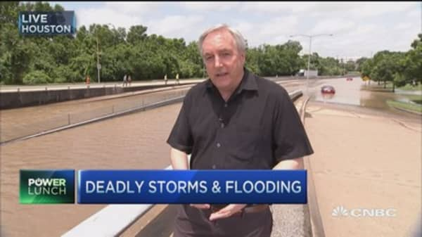 Footage of deadly storms & flooding
