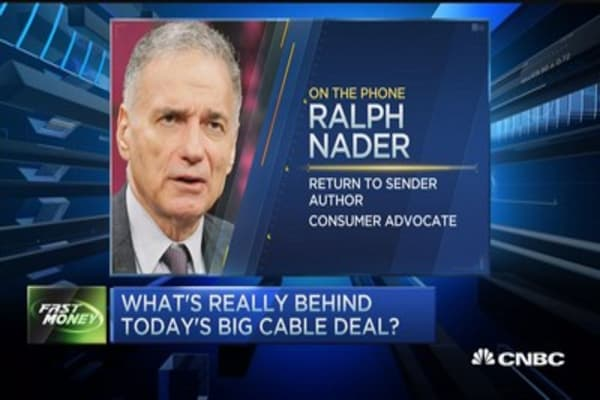 Nader: Charter-TWC deal not good for consumers
