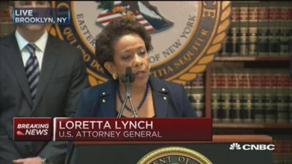 Lynch announces charges against FIFA officials