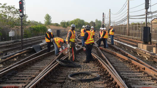 Sections of cable were vandalized and stolen from the A line south of Howard Beach late in the evening of Tue., May 26, 2015. The 2300 A from Far Rockaway to 207 St. lost power.