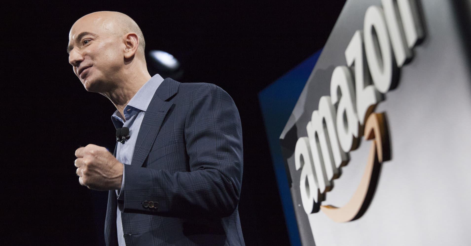 Jeff Bezos, chief executive officer of Amazon.com