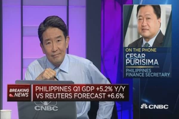 Philippines finance secretary: Growth will catch up