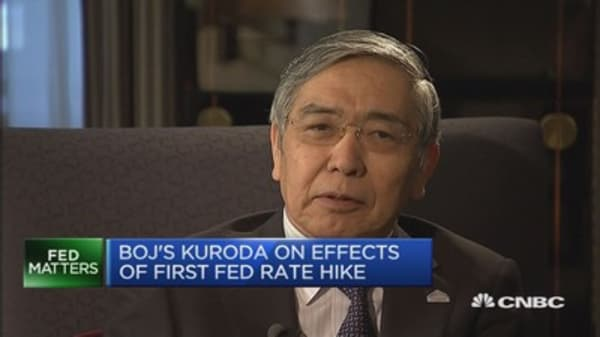 Fed rate hike shows strong US recovery: Kuroda